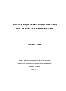 The Technical Analysis Method of Moving Average Trading - theses