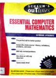 Schaums Outline of Essential Computer Mathematics