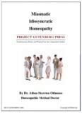 Miasmatic Idiosyncratic Homeopathy