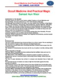 Occult Medicine And Practical Magic Samael Aun Weor