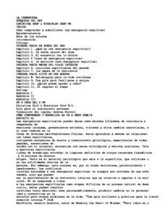 LA TORMENTOSA BÚSQUEDA DEL SER CHRISTINA GROF & STANISLAV GROF MD ÍNDICE ...
