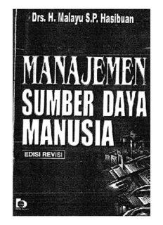 DRS H MALAYU S.P. HASIBUAN, MANAJEMEN SUMBER DAYA MANUSIA, edisi revisi .intro