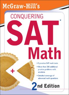 McGraw-Hill's Conquering SAT Math, 2nd Ed. (McGraw-Hill's Conquering SAT Math)