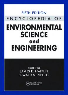 Encyclopedia of Environmental Science and Engineering