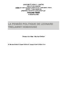 la pensée politique de leonard trelawny hobhouse