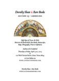 Dorothy SloanG Rare Books - Dorothy Sloan -- Rare Books