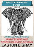Adult Coloring Book  Animals and Nature