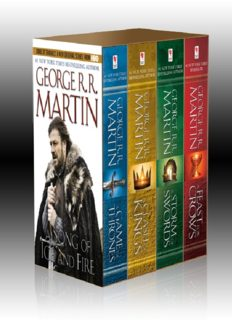 The Song of Ice and Fire Series: A Game of Thrones, A Clash of Kings, A Storm of Swords, and A Feast for Crows