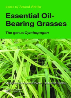 Essential Oil-Bearing Grasses: The genus Cymbopogon (Medicinal and Aromatic Plants - Industrial Profiles 46)