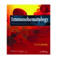 Immunohematology PRINCIPLES AND PRACTICE THIRD EDITION Eva D. Quinley MS, MT(ASCP)