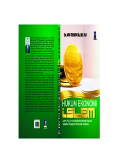 Hukum Ekonomi Islam dari Politik Hukum Ekonomi Islam Sampai Pranata Ekonomi Syariah