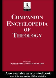 Companion Encyclopedia of Theology (Routledge Companion Encyclopedias)