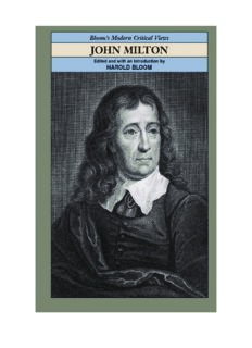 John Milton (Bloom's Modern Critical Views)