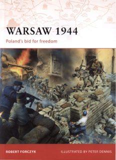 Osprey Campaign 205 - Warsaw 1944: Poland's Bid for Freedom