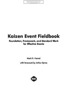 Kaizen Event Fieldbook - Foundation, Framework, and Standard Work for Effective Events