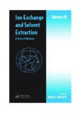 Ion Exchange and Solvent Extraction: A Series of Advances, Volume 18 (Ion Exchange and Solvent