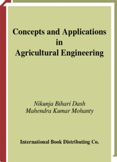 Concepts and Applications in Agricultural Engineering