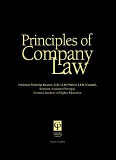 Company Law (Principles Of Law)
