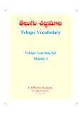 Telugu Vocabulary.pdf - Learning Telugu