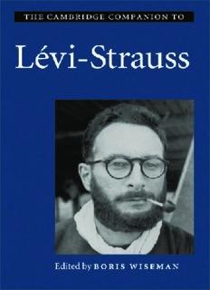 The Cambridge Companion to Lévi-Strauss (Cambridge Companion To...)