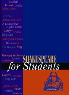 Shakespeare for students: critical interpretations of Shakespeare's plays and poetry