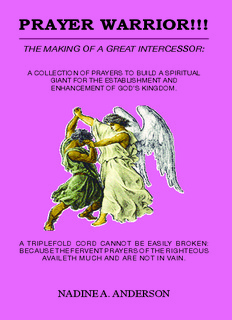 THE MAKING OF A GREAT INTERCESSOR