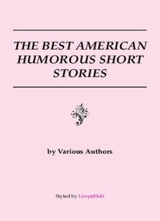 THE BEST AMERICAN HUMOROUS SHORT STORIES - LimpidSoft