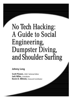 No Tech Hacking - A Guide to Social Engineering, Dumpster Diving, & Shoulder Surfing.pdf