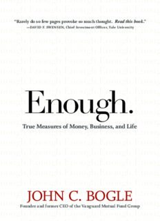 Enough: True Measures of Money, Business, and Life