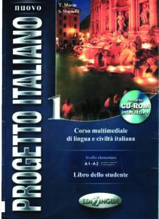 Nuovo Progetto Italiano - 1. Livello elementare. Libro dello studente (A1-A2)