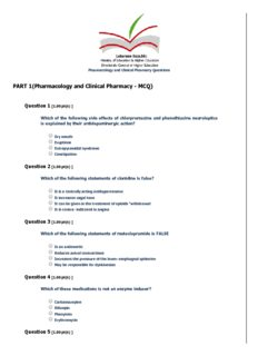 PART 1(Pharmacology and Clinical Pharmacy MCQ)