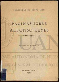 Páginas sobre Alfonso Reyes