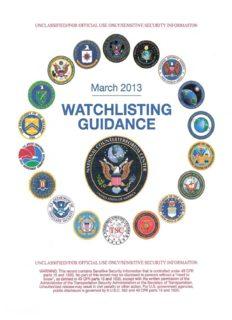 March 2013 Watchlisting Guidance