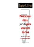 meditaciones diarias para la gente altamente efectiva, destephen r. covey