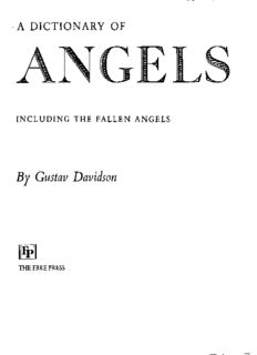 A Dictionary of Angels, including the fallen angels