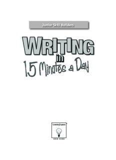 Writing in 15 Minutes a Day: Junior Skill Builder (Junior Skill Builders)