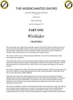 Watt-Evans, Lawrence - Ethshar 01 - The Misenchanted Sword