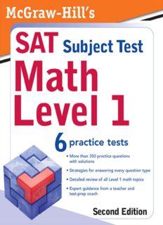 McGraw-Hill's SAT Subject Test: Math Level 1, 2 E
