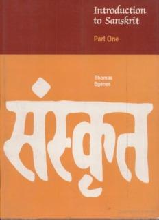01 Introduction to Sanskrit Part 1 – Thomas Egenes