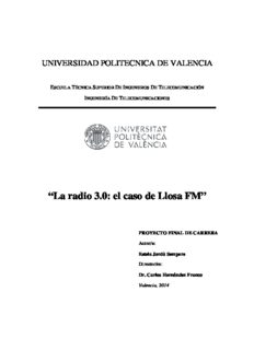 La radio 3.0: el caso La radio 3.0: el caso de Llosa FM aso de Llosa FM
