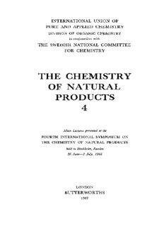 The Chemistry of Natural Products. Main Lectures Presented at the Fourth International Symposium on the Chemistry of Natural Products Held in Stockholm, Sweden, 26 June–2 July, 1966