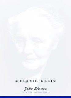Female genius : life, madness, words : Hannah Arendt, Melanie Klein, Colette Vol2_Melanie Kiein