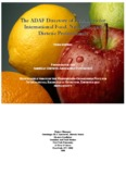 The ADAF Directory of Resources for International Food, Nutrition