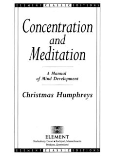 Concentration and Meditation: A Manual of Mind Development (Element Classic Editions)