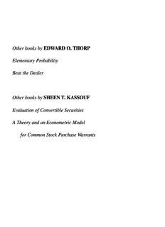 Beat The Market.qxd - Edward O. Thorp