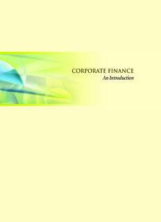 CORPORATE FINANCE An Introduction