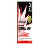 Criminal Law (Q&A revision guide)