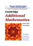 Cambridge additional mathematics IGCSE (0606) : O level (4037)