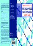 An introduction to mathematics for economics