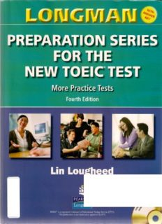 Longman Preparation Series for the New TOEIC Test: More Practice Tests